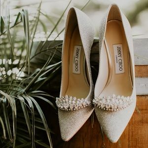 Jimmy Choo Romy 85 Bridal Pumps